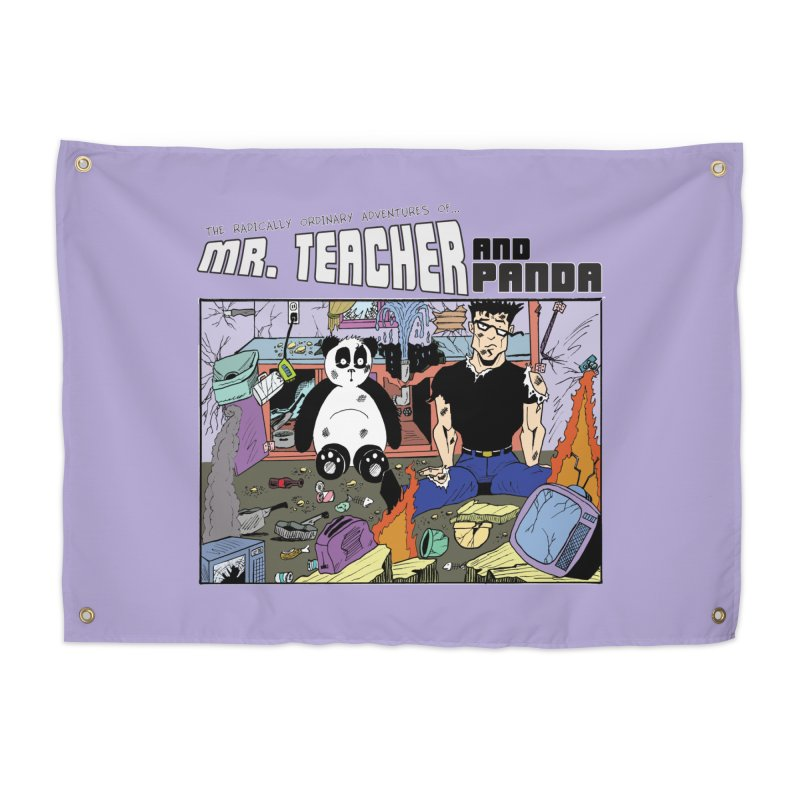 Garbage Disposal Home Tapestry by Mr. Teacher and Panda Merchandise
