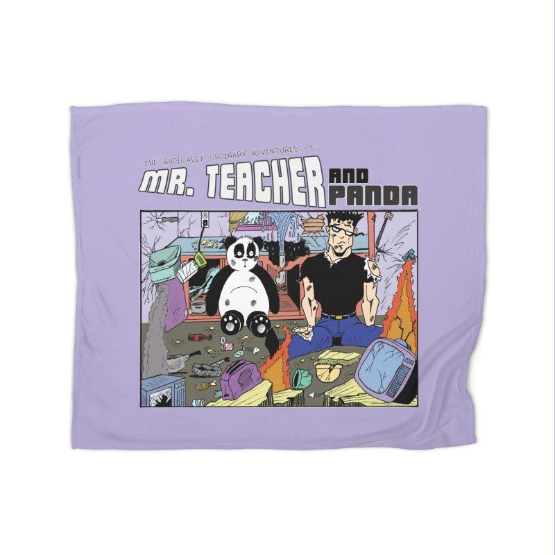 Garbage Disposal Home Fleece Blanket Blanket by Mr. Teacher and Panda Merchandise