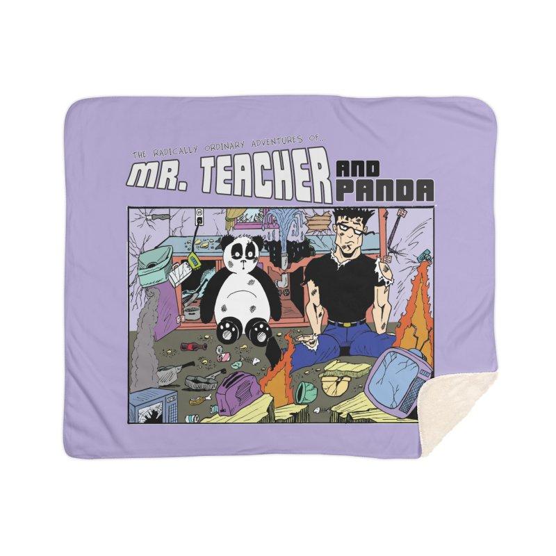 Garbage Disposal Home Sherpa Blanket Blanket by Mr. Teacher and Panda Merchandise