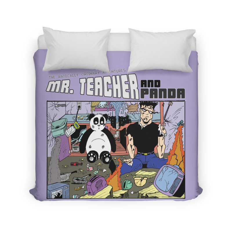 Garbage Disposal Home Duvet by Mr. Teacher and Panda Merchandise