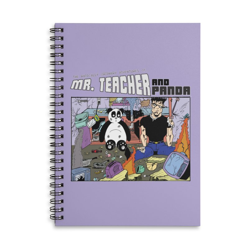 Garbage Disposal Accessories Notebook by Mr. Teacher and Panda Merchandise