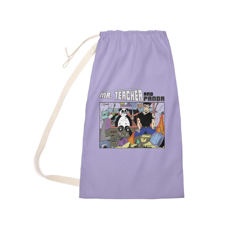 Garbage Disposal Accessories Laundry Bag Bag by Mr. Teacher and Panda Merchandise