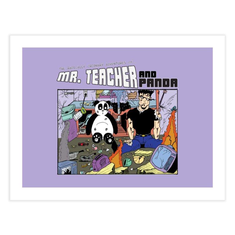 Garbage Disposal Home Fine Art Print by Mr. Teacher and Panda Merchandise