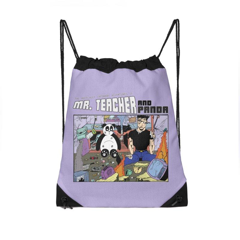 Garbage Disposal Accessories Drawstring Bag Bag by Mr. Teacher and Panda Merchandise