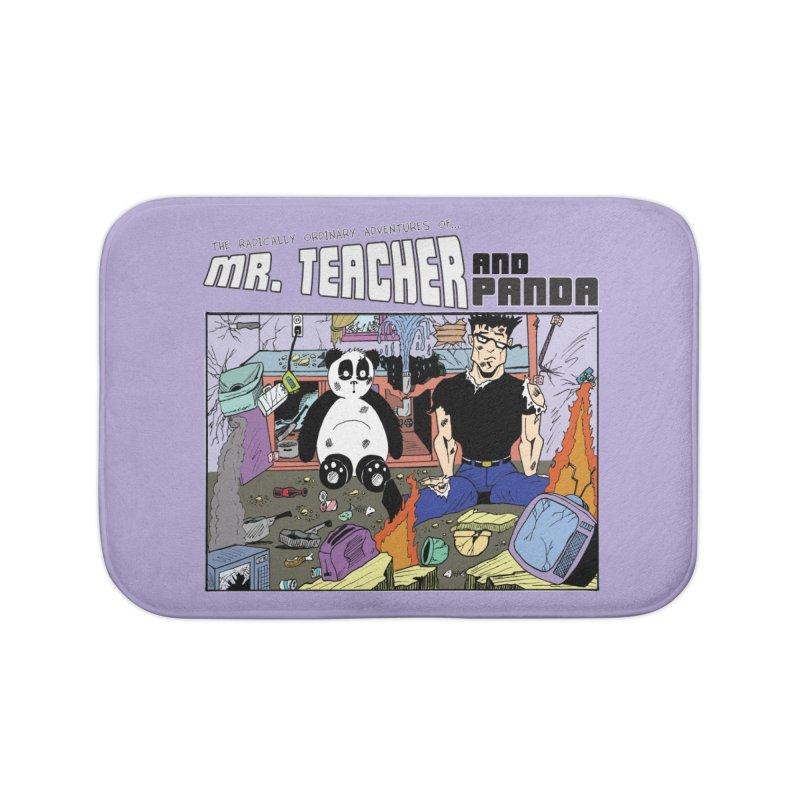 Garbage Disposal Home Bath Mat by Mr. Teacher and Panda Merchandise