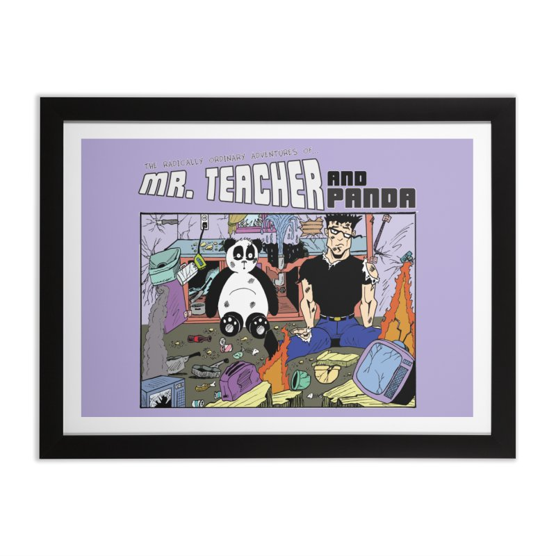 Garbage Disposal Home Framed Fine Art Print by Mr. Teacher and Panda Merchandise