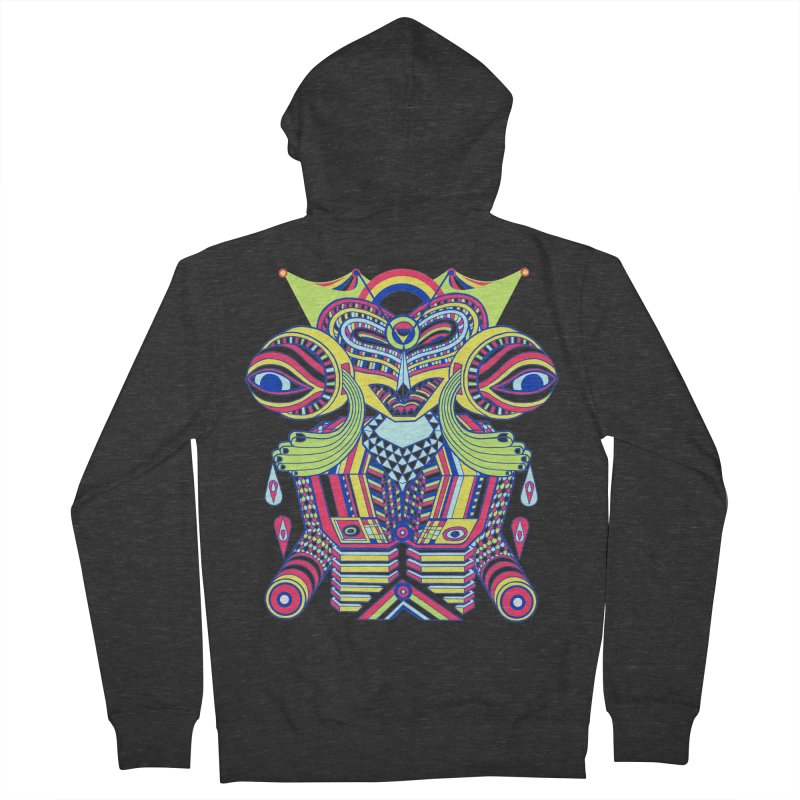 King me MAsk Men's Zip-Up Hoody by mrwalrusface's Artist Shop