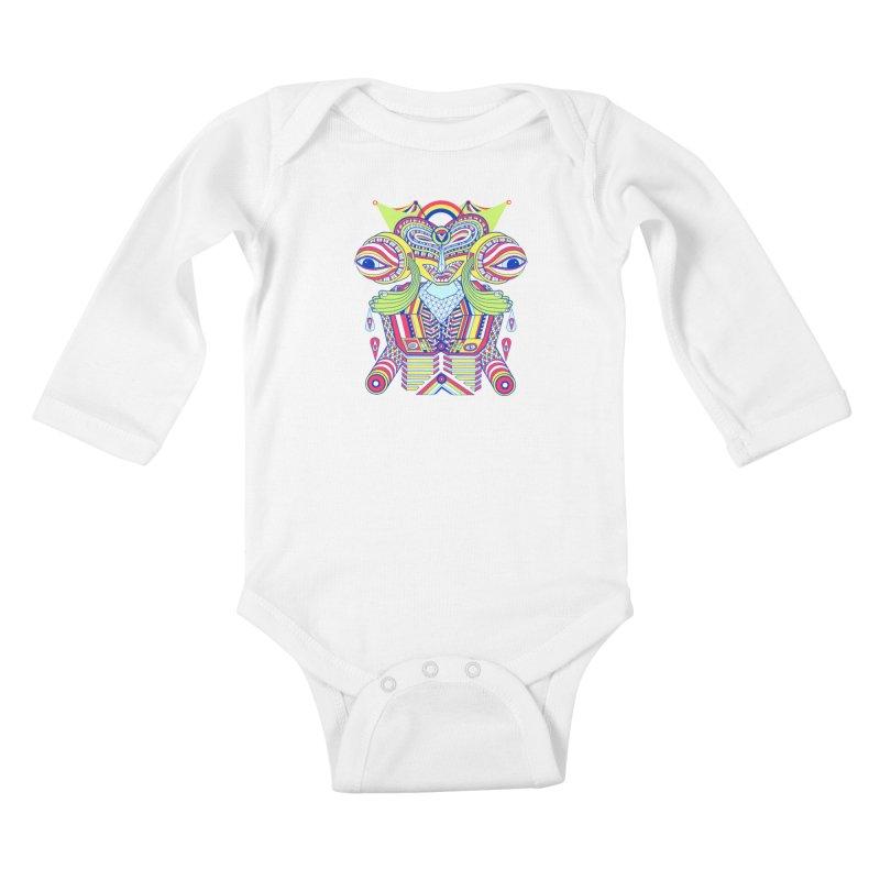King me MAsk Kids Baby Longsleeve Bodysuit by mrwalrusface's Artist Shop