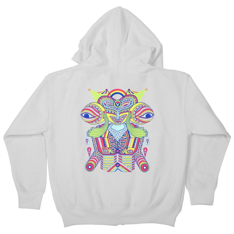King me MAsk Kids Zip-Up Hoody by mrwalrusface's Artist Shop