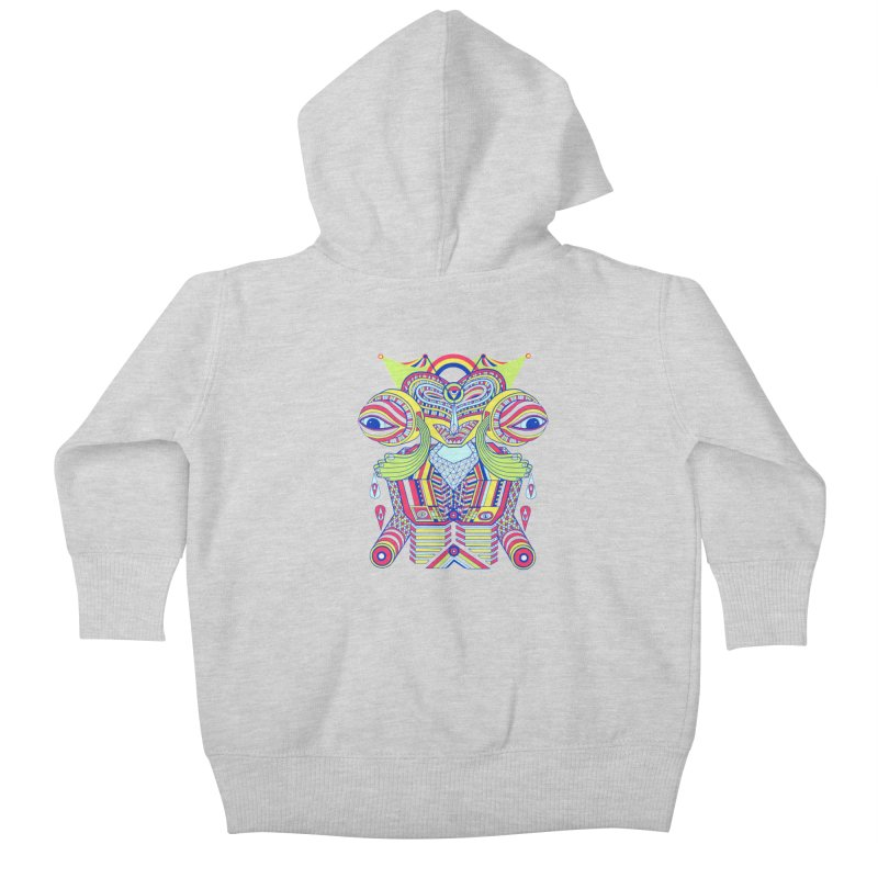 King me MAsk Kids Baby Zip-Up Hoody by mrwalrusface's Artist Shop