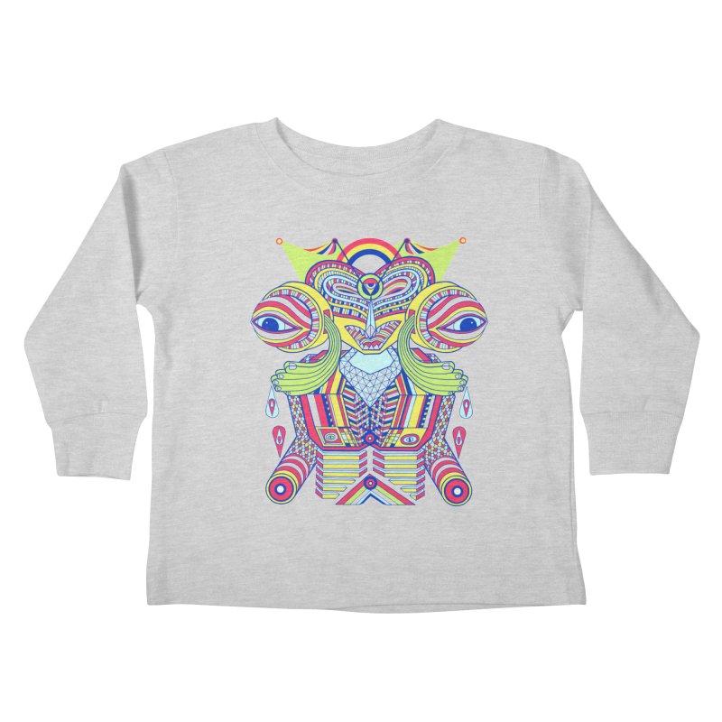 King me MAsk Kids Toddler Longsleeve T-Shirt by mrwalrusface's Artist Shop