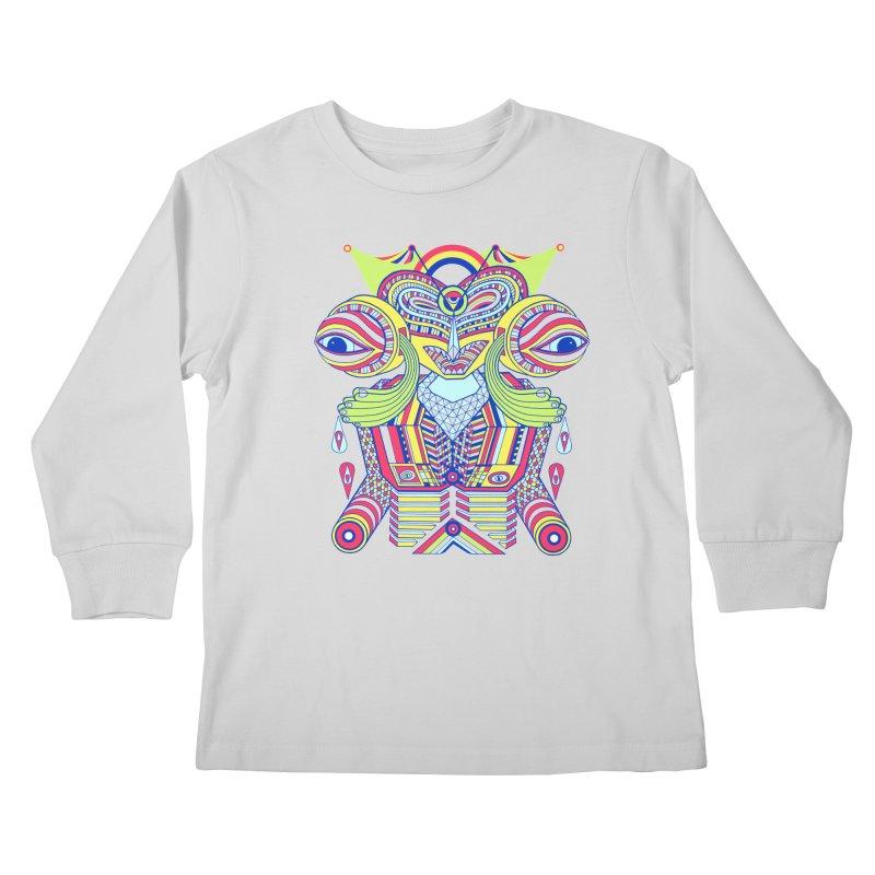 King me MAsk Kids Longsleeve T-Shirt by mrwalrusface's Artist Shop