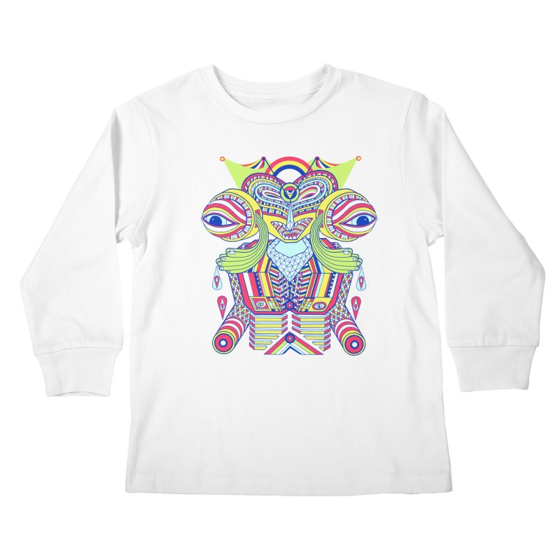 King me MAsk Kids Longsleeve T-Shirt by mrwalrusface's Artist Shop