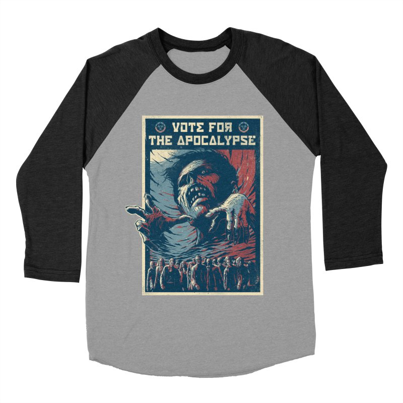 Vote for the apocalypse Men's Baseball Triblend T-Shirt by MrWayne