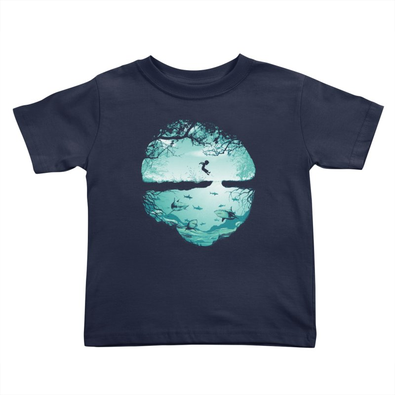 The big puddle Kids Toddler T-Shirt by MrWayne