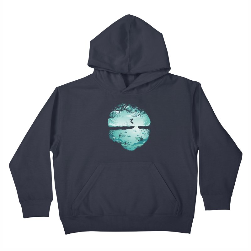 The big puddle Kids Pullover Hoody by MrWayne