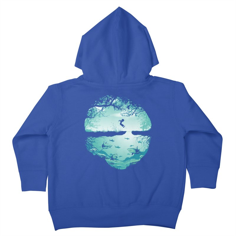 The big puddle Kids Toddler Zip-Up Hoody by MrWayne