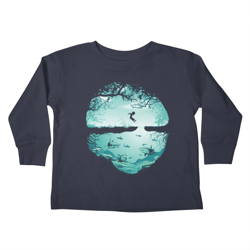 The big puddle Kids Toddler Longsleeve T-Shirt by MrWayne