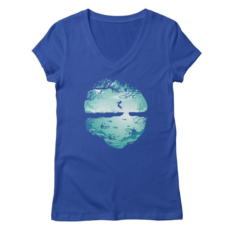 The big puddle Women's V-Neck by MrWayne