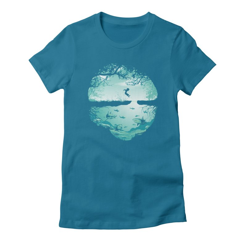 The big puddle Women's Fitted T-Shirt by MrWayne