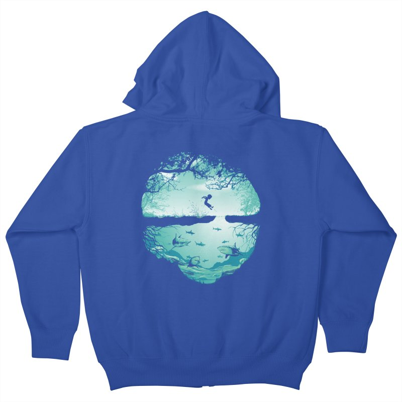The big puddle Kids Zip-Up Hoody by MrWayne