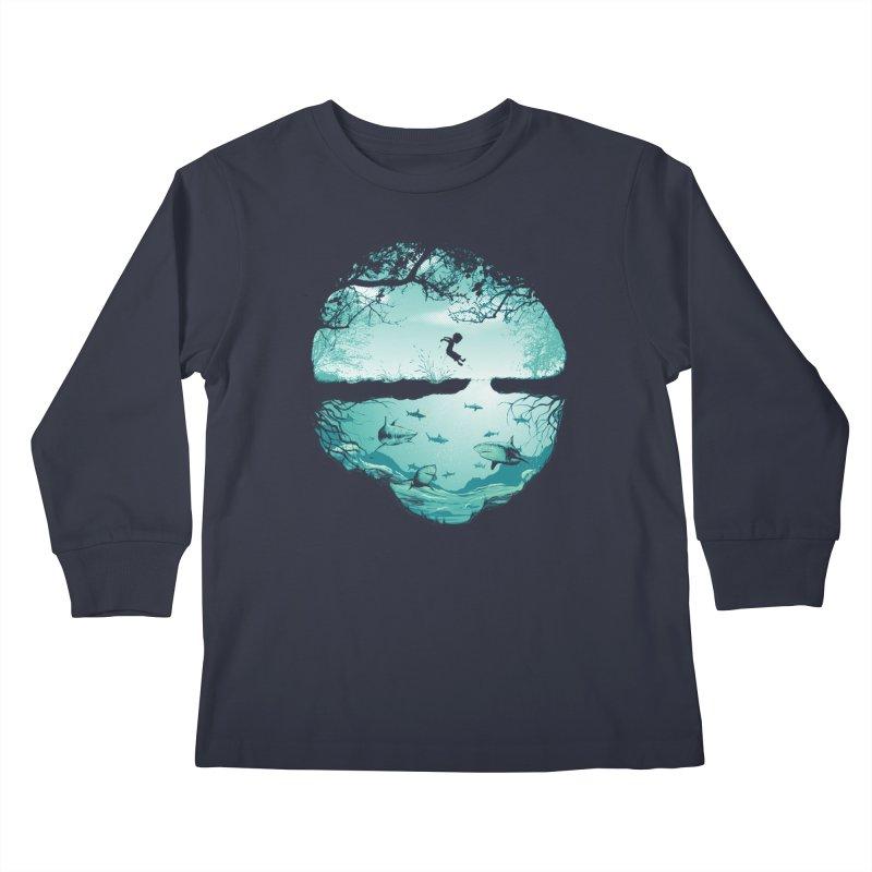 The big puddle Kids Longsleeve T-Shirt by MrWayne