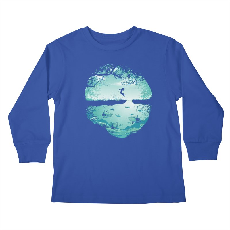 The big puddle Kids Longsleeve T-Shirt by MrWayne