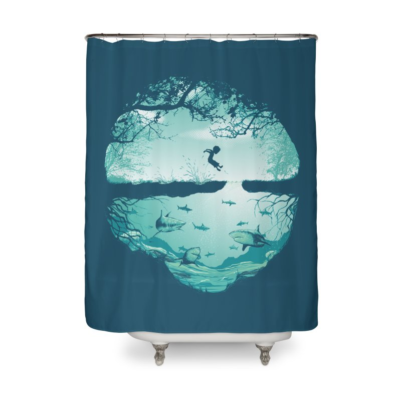 The big puddle Home Shower Curtain by MrWayne