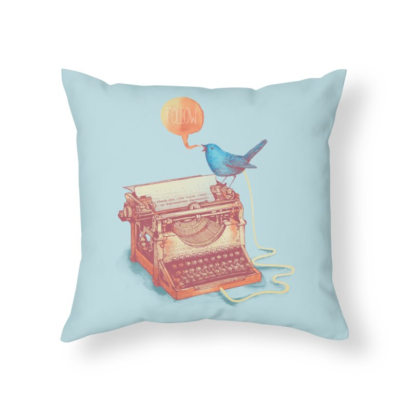 The first tweet Home Throw Pillow by MrWayne