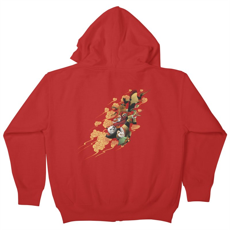 Masters attack Kids Zip-Up Hoody by MrWayne