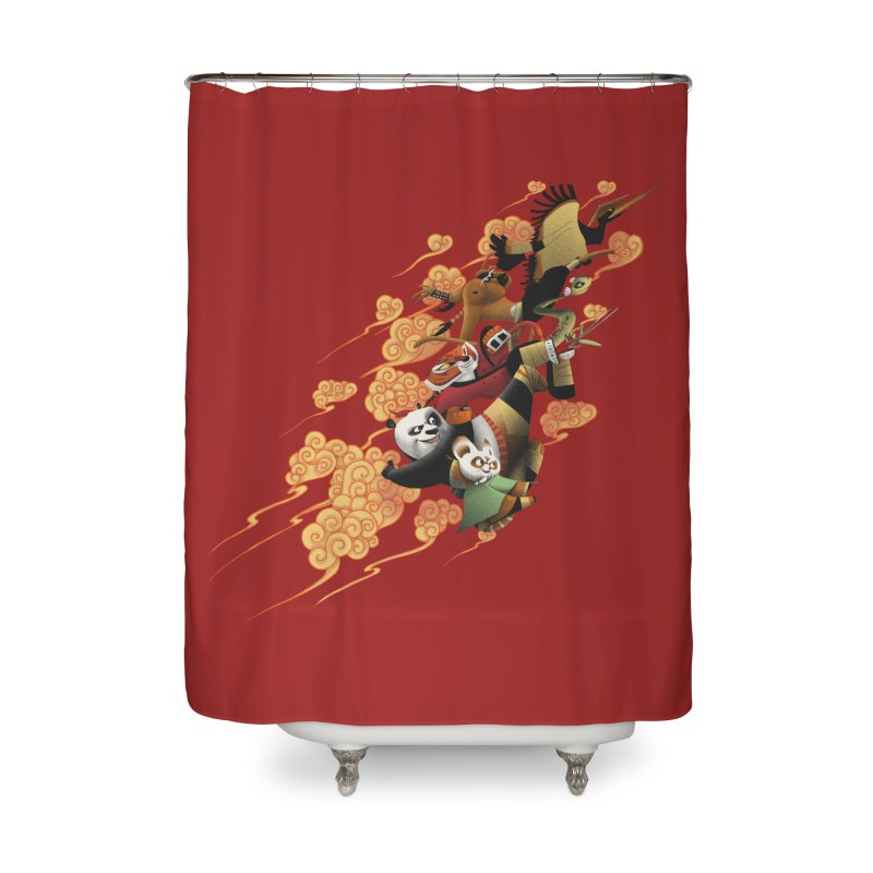 Masters attack Home Shower Curtain by MrWayne