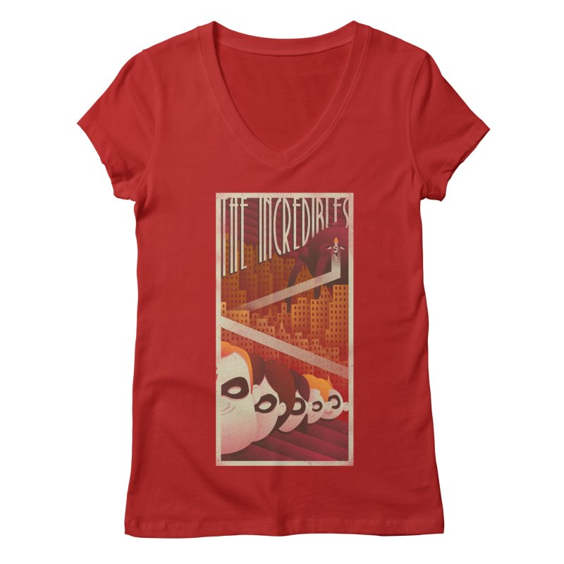 The incredible family Women's V-Neck by MrWayne