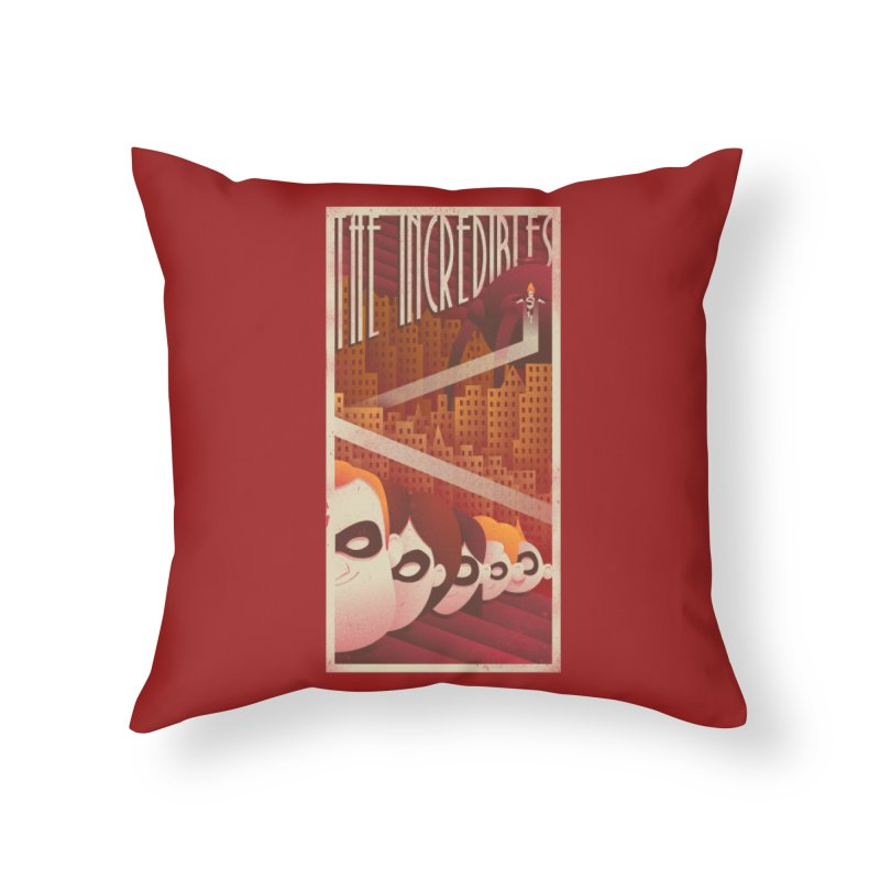 The incredible family Home Throw Pillow by MrWayne