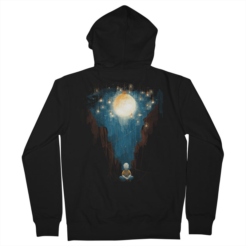 Switch on the lights Men's Zip-Up Hoody by MrWayne