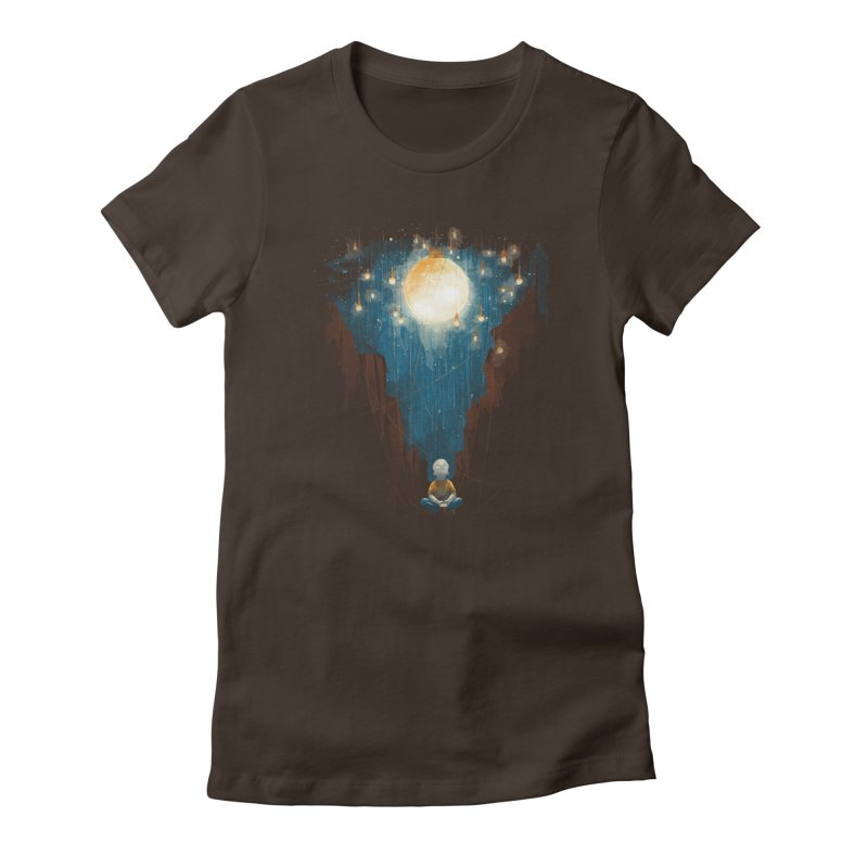 Switch on the lights Women's Fitted T-Shirt by MrWayne