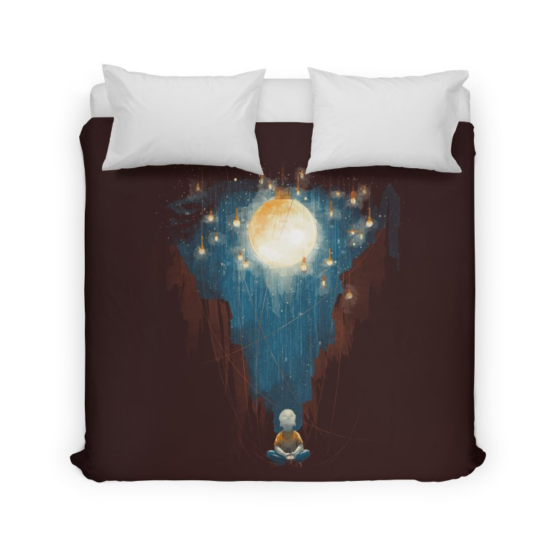 Switch on the lights Home Duvet by MrWayne