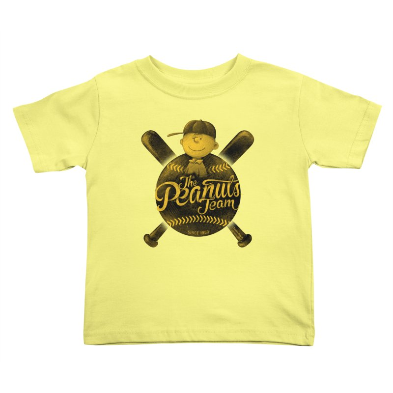 The Peanuts team Kids Toddler T-Shirt by MrWayne