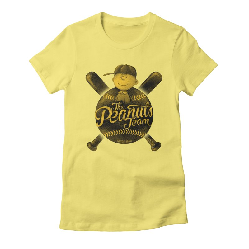 The Peanuts team Women's Fitted T-Shirt by MrWayne