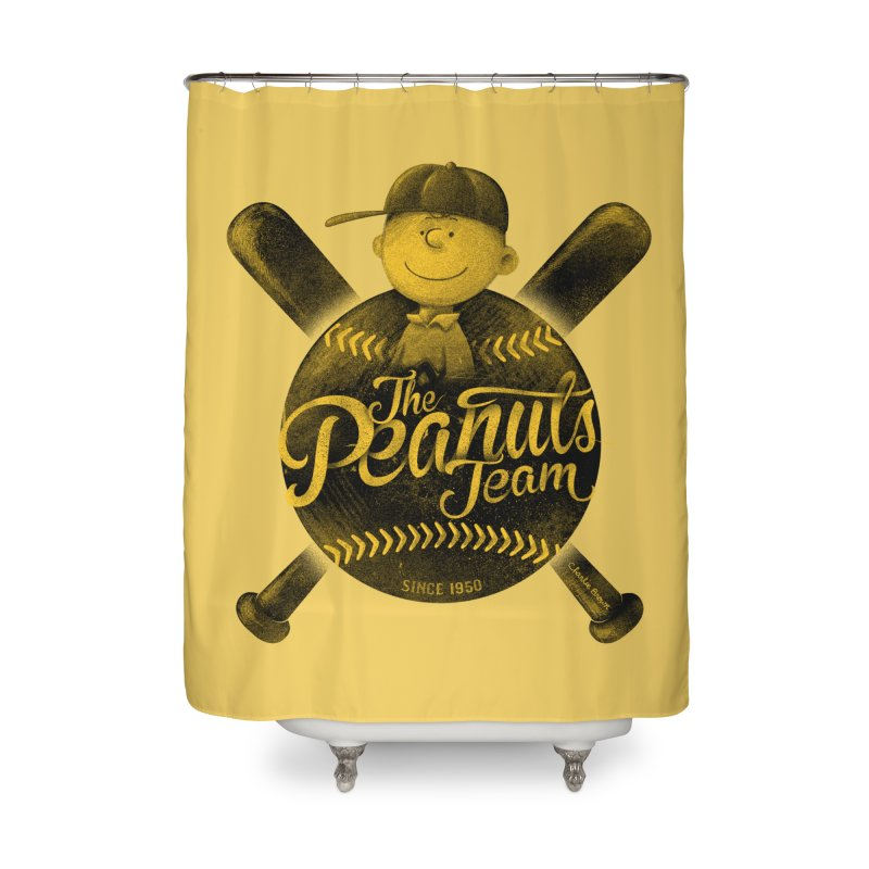 The Peanuts team Home Shower Curtain by MrWayne