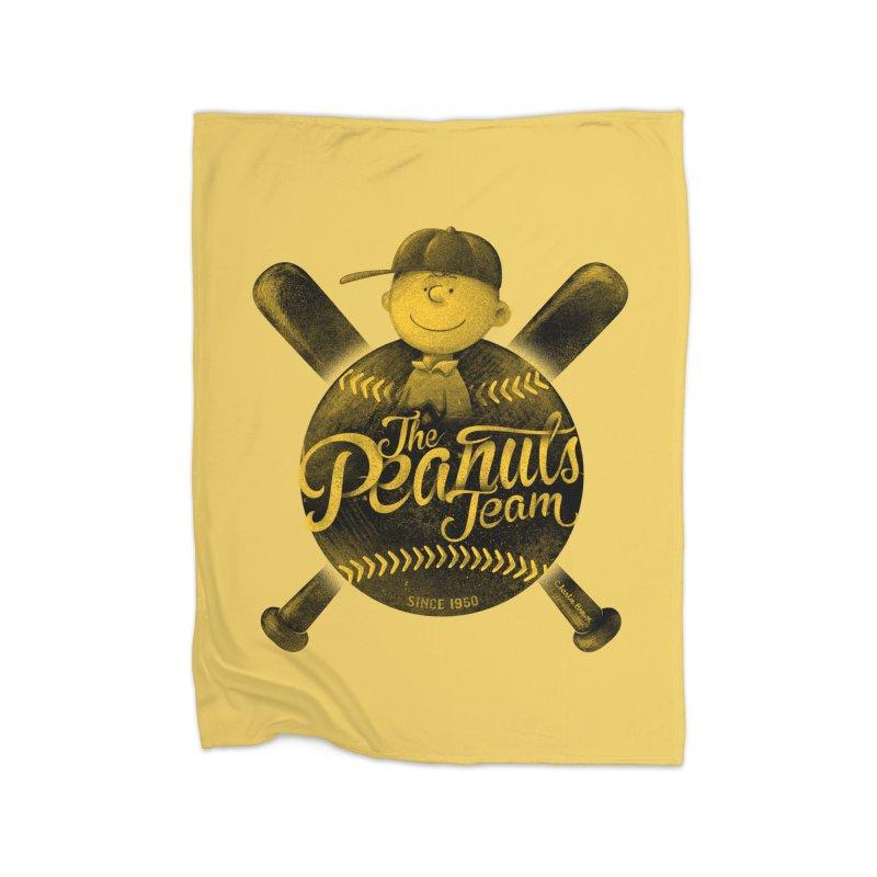 The Peanuts team Home Fleece Blanket Blanket by MrWayne
