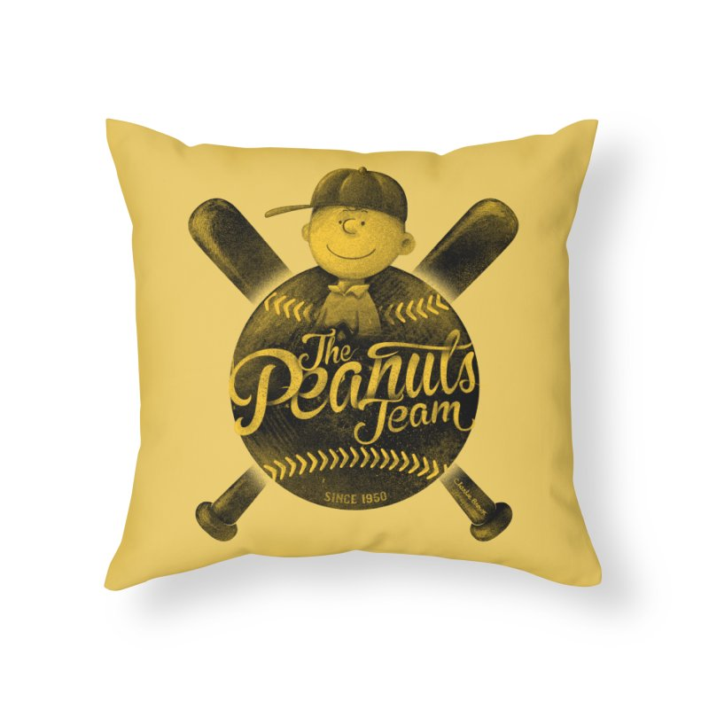 The Peanuts team Home Throw Pillow by MrWayne