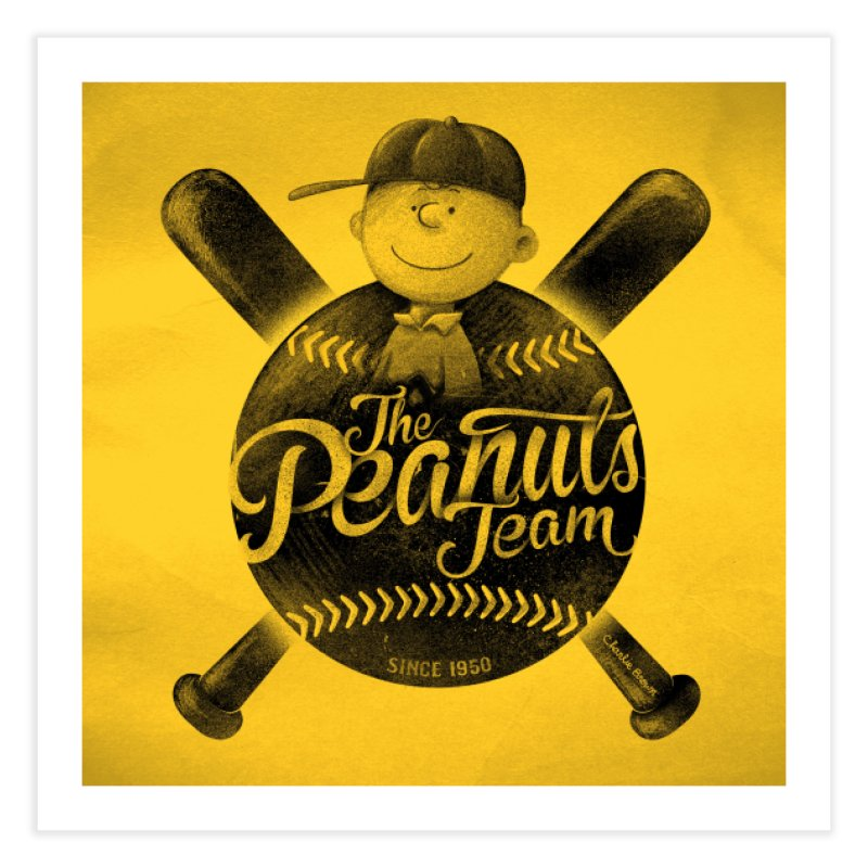 The Peanuts team Home Fine Art Print by MrWayne