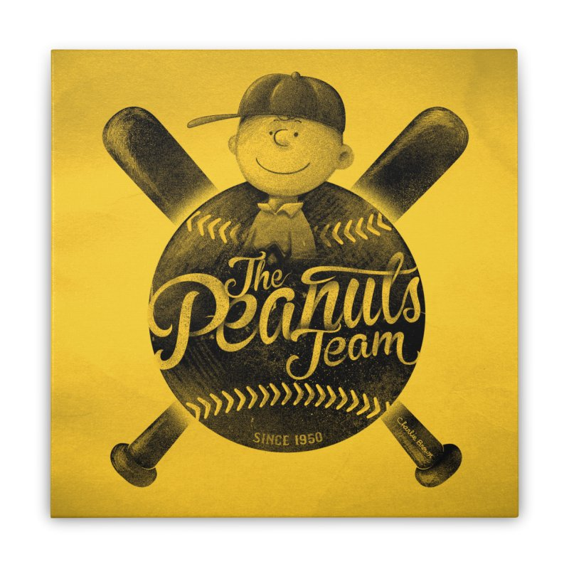The Peanuts team Home Stretched Canvas by MrWayne