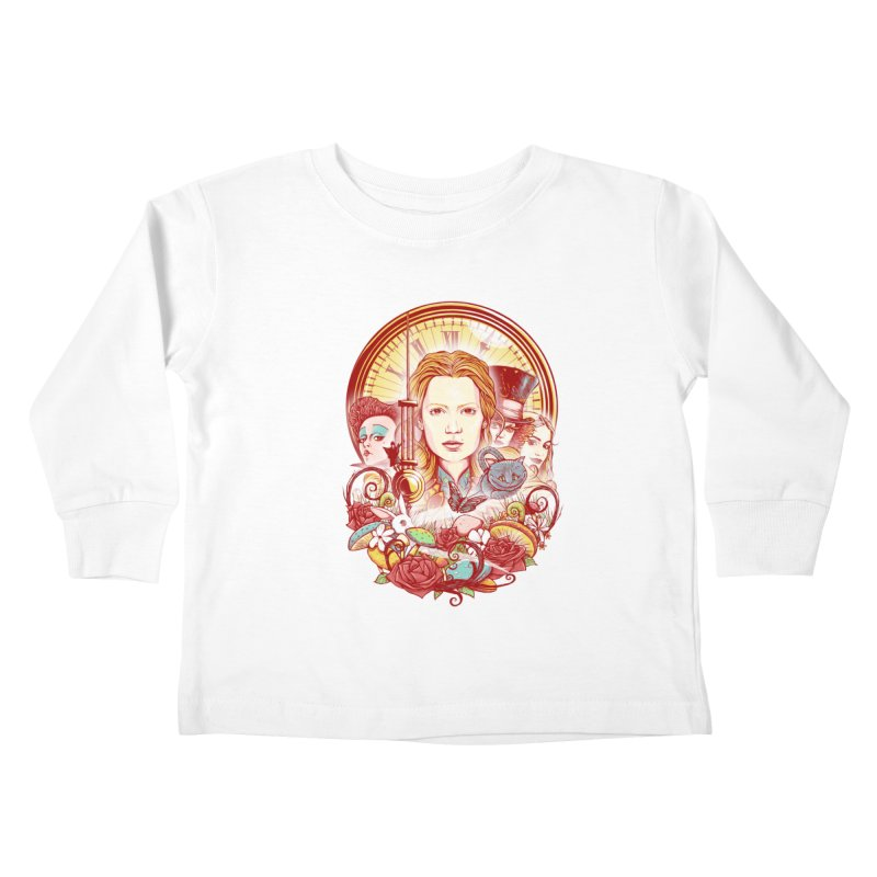 Beautiful Alice Kids Toddler Longsleeve T-Shirt by MrWayne