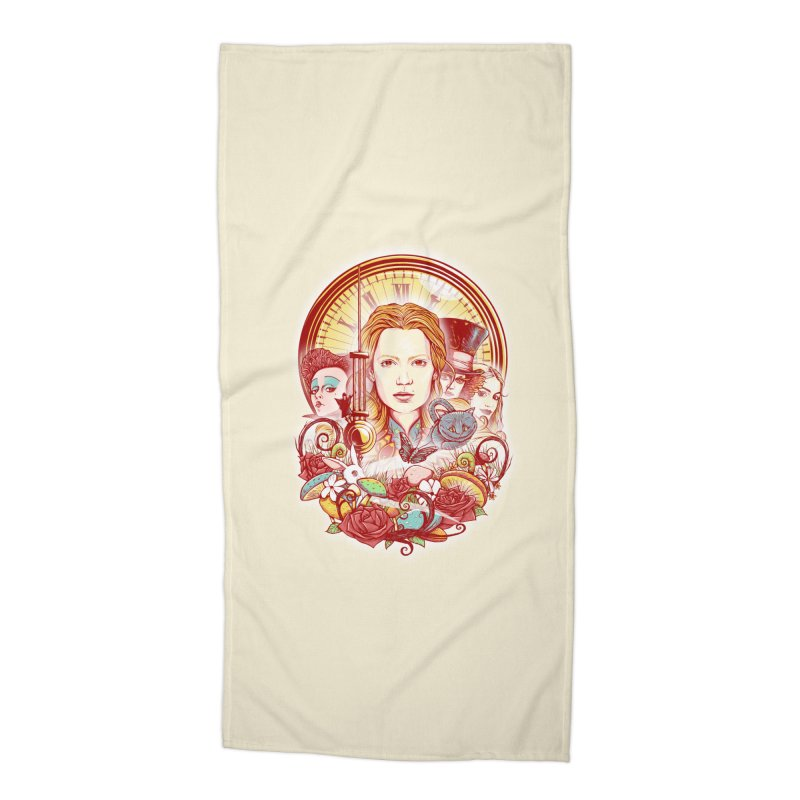 Beautiful Alice Accessories Beach Towel by MrWayne