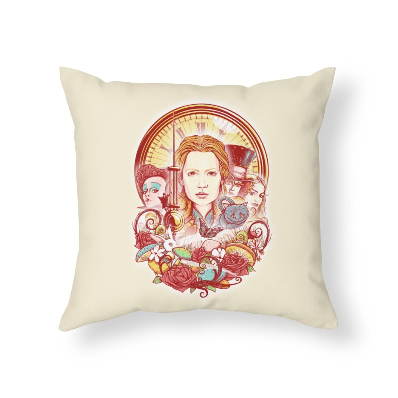 Beautiful Alice Home Throw Pillow by MrWayne