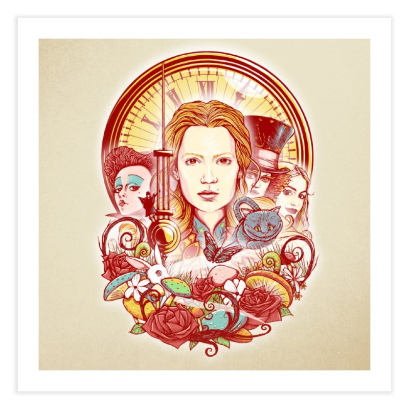 Beautiful Alice Home Fine Art Print by MrWayne