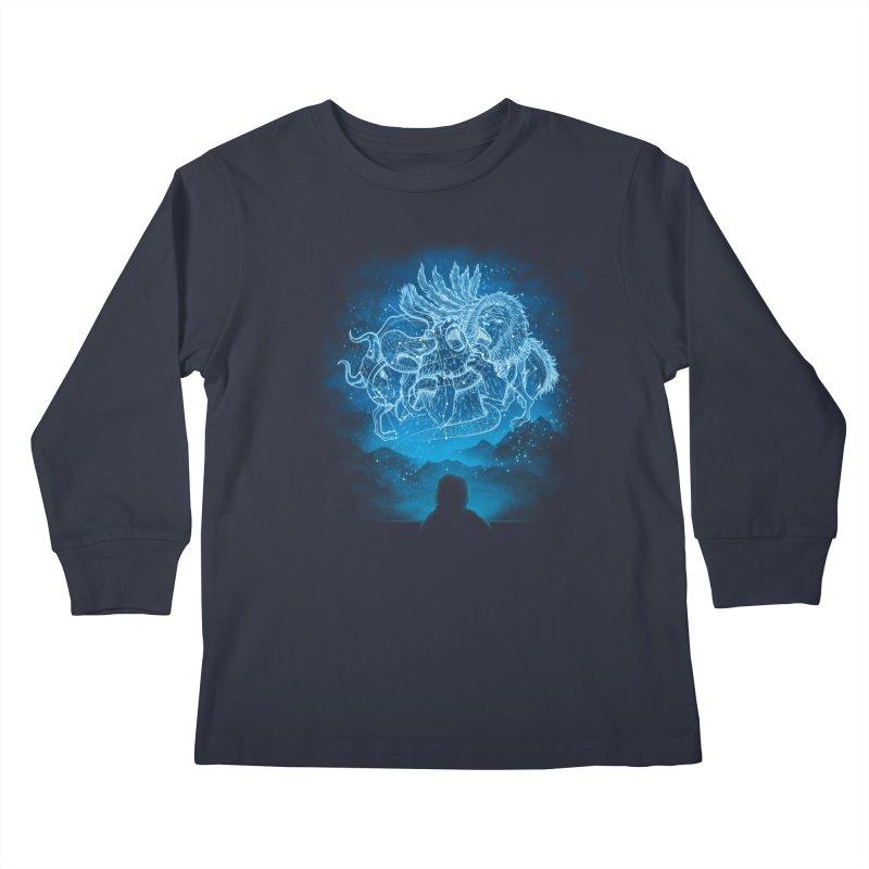 Battle Stars Kids Longsleeve T-Shirt by MrWayne