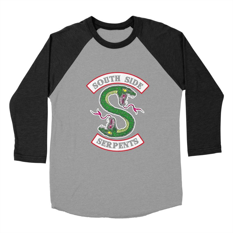 South Side Serpents Men's Baseball Triblend Longsleeve T-Shirt by MrWayne