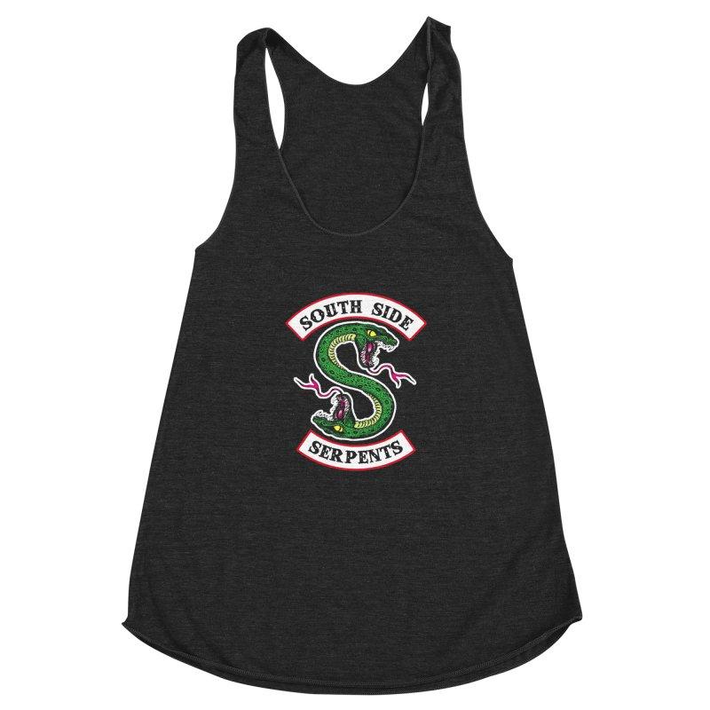 South Side Serpents Women's Racerback Triblend Tank by MrWayne